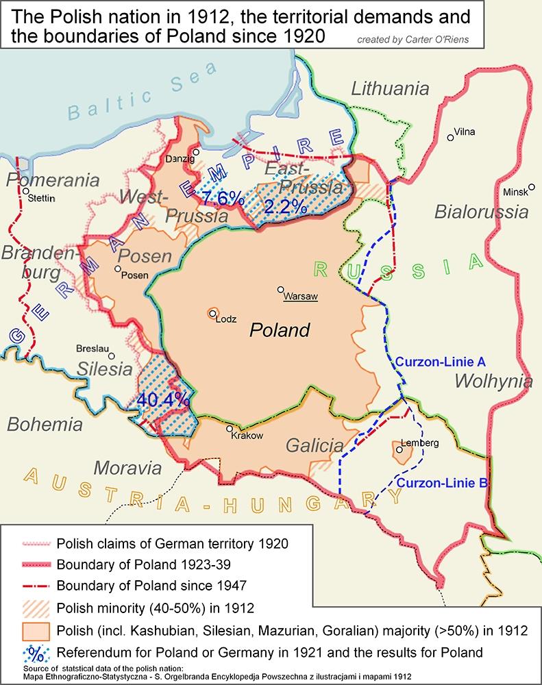[转载]【俄罗斯帝国】寇松线——西乌克兰和西白俄罗斯地区问题