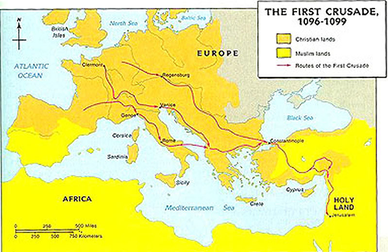 lone success of the first crusade With the success of the first crusade, christians retook jerusalem and _____ - 2864599.