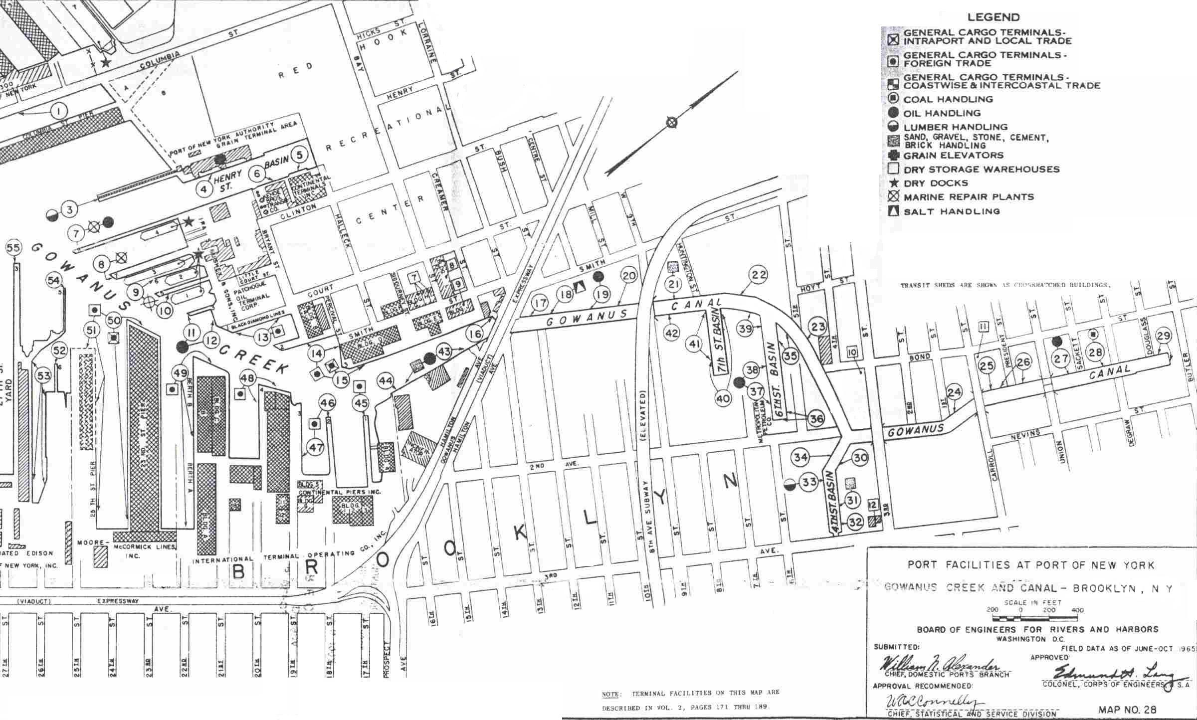 Map Of The GowC In 1965 Courtesy Us Army Corps Of Engineers Port Series 5
